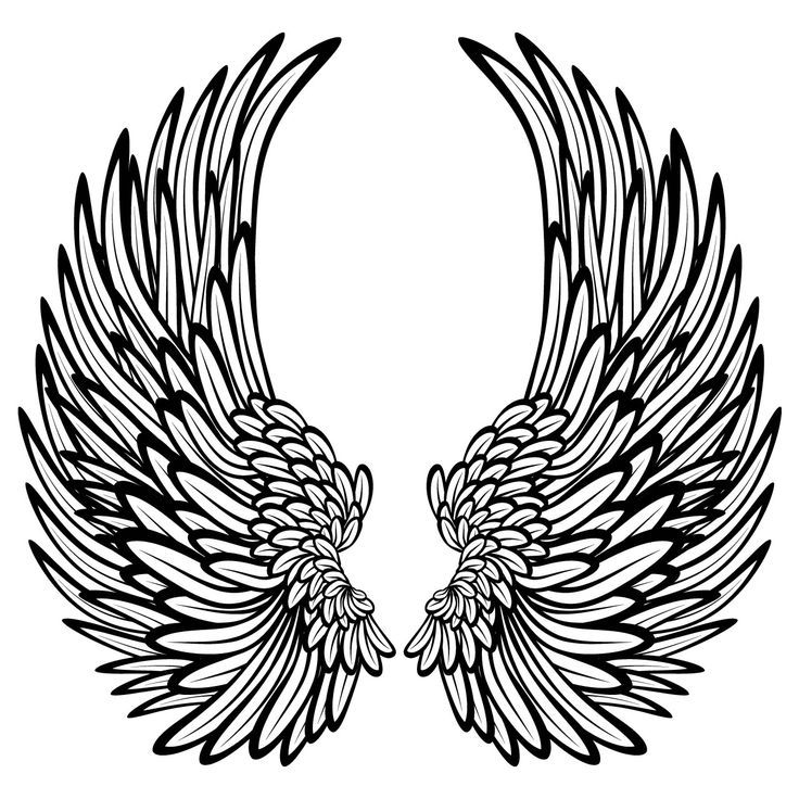 Fan image with printable angel wings