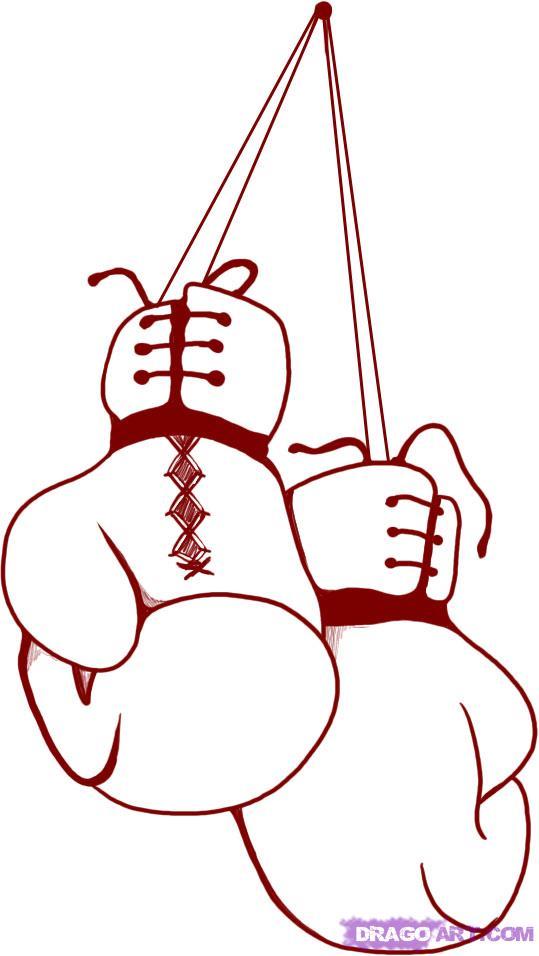 Рисунки боксерские перчатки карандашом