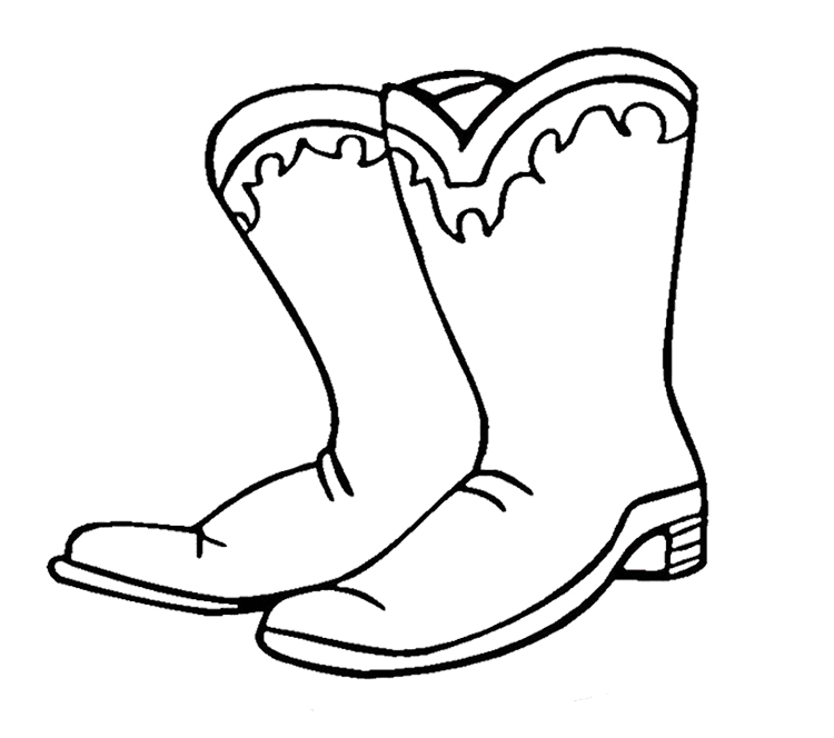 Cowgirl Boots Outline
