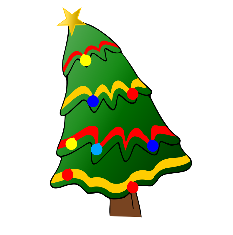 Christmas Tree Cartoon Images