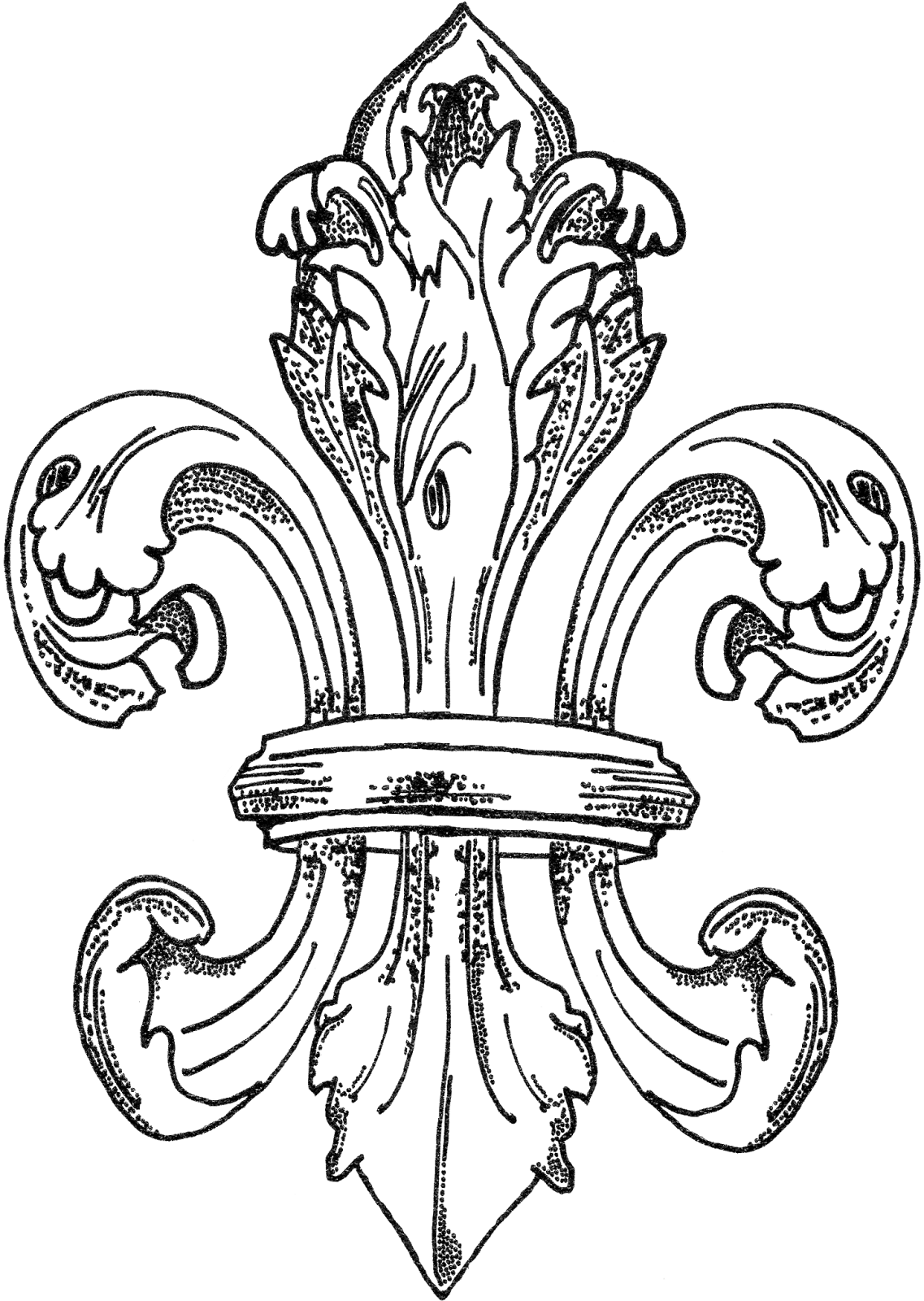 fleur de lis coloring pages - photo#18