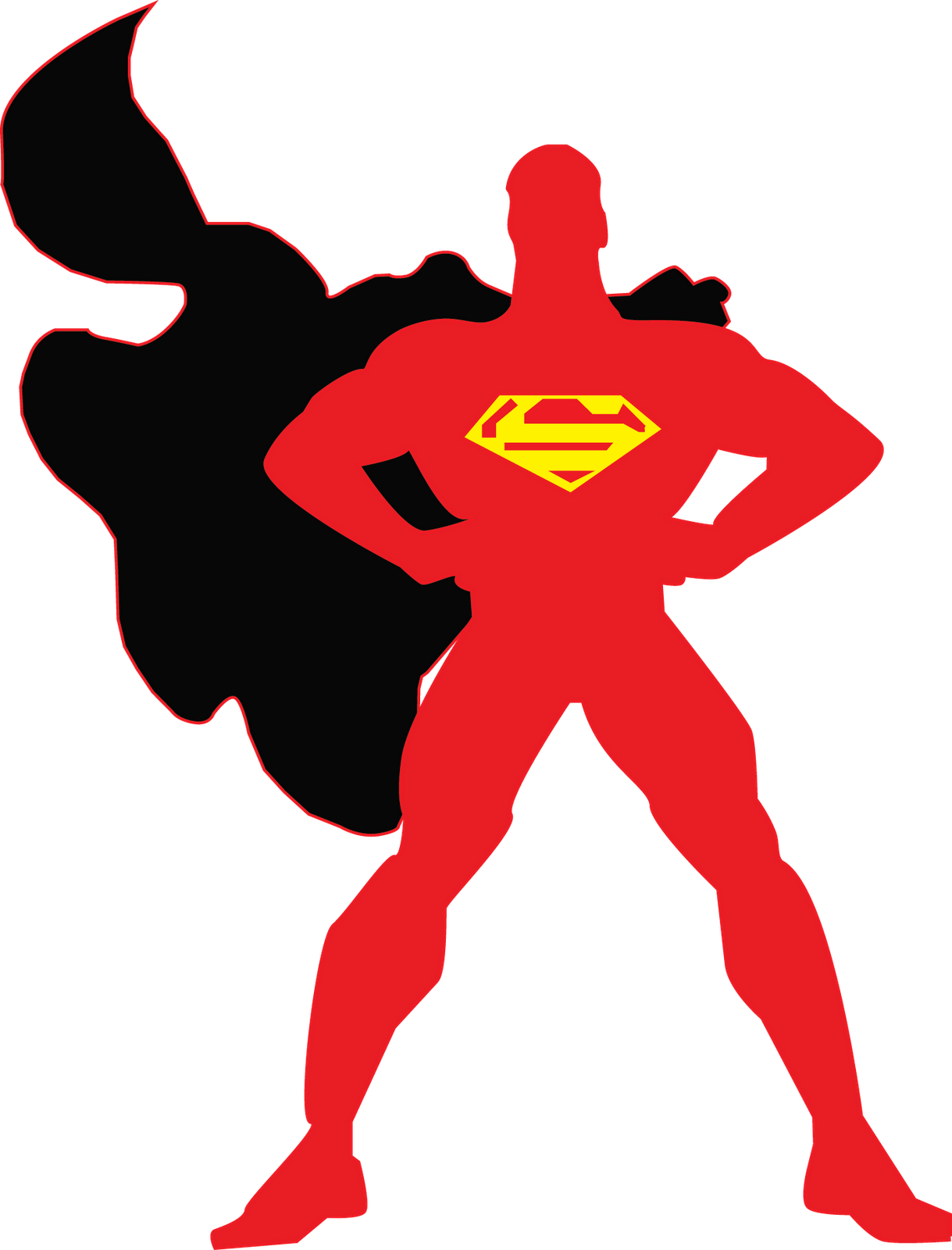 Superman Logo Outline - ClipArt Best - ClipArt Best