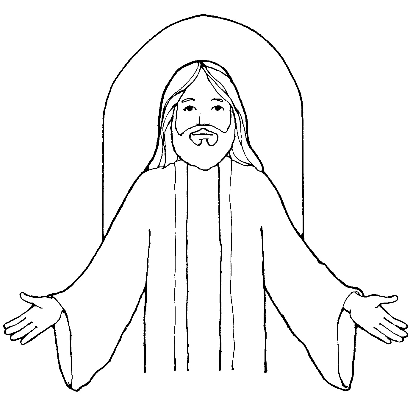 Jesus christ black and white clip art