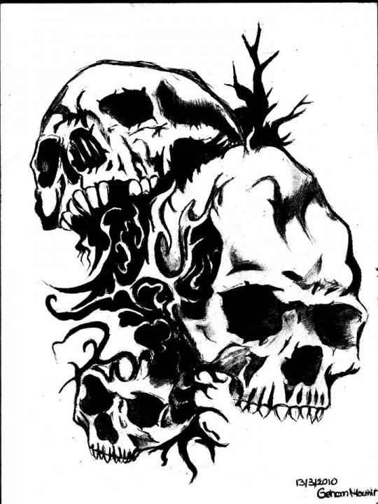 skull drawings pics clipartsco