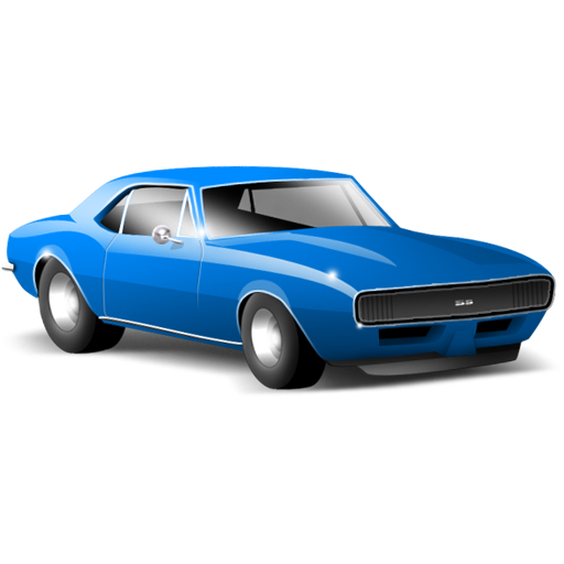 Blue Car Clipart on camero car