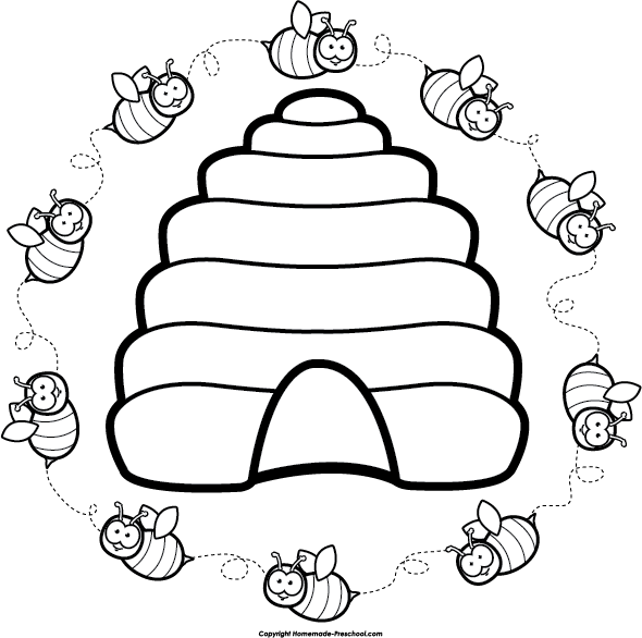 Clipart Beehive - Cliparts.co