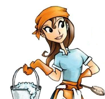 Cleaning Lady Cartoon - Cliparts.co