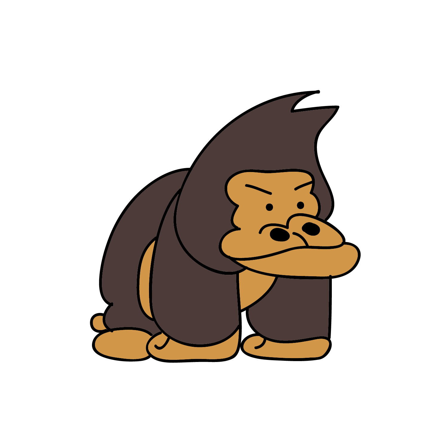 Cartoon Gorilla Pictures - Cliparts.co