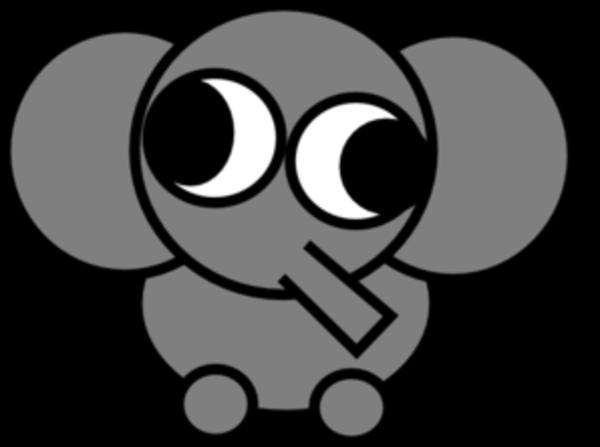 clipart elephant face - photo #22