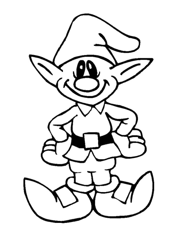 christmas coloring pages elf | Father Christmas Pictures To Colour - Cliparts.co