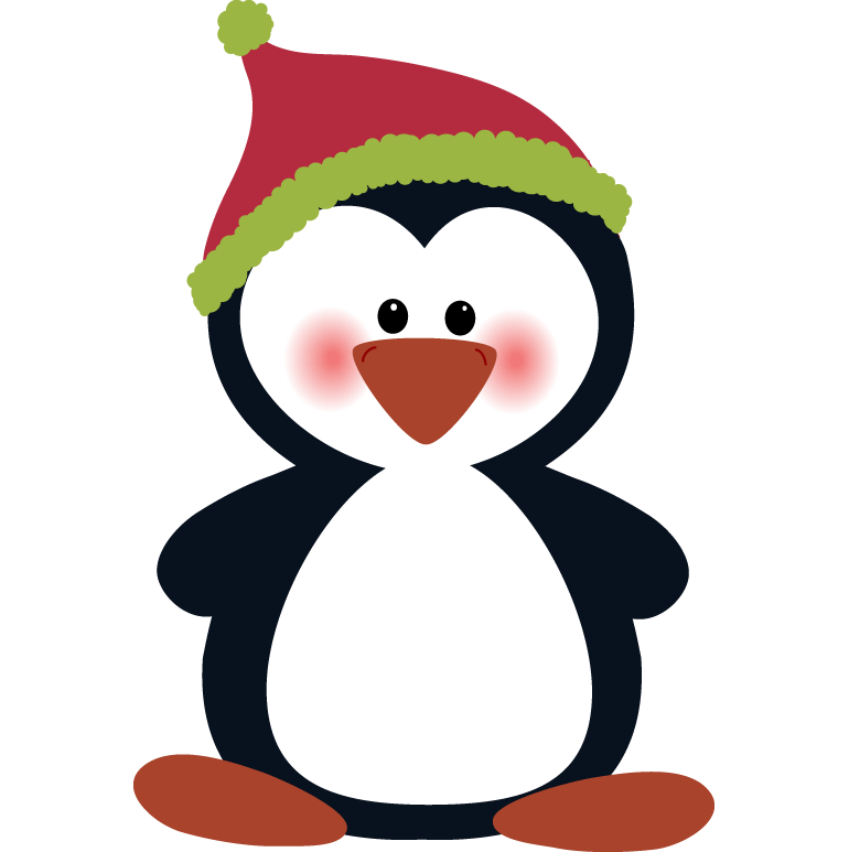 Christmas penguin clip art