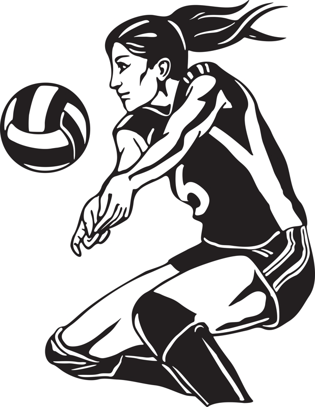 volleyball spike clipart - photo #38