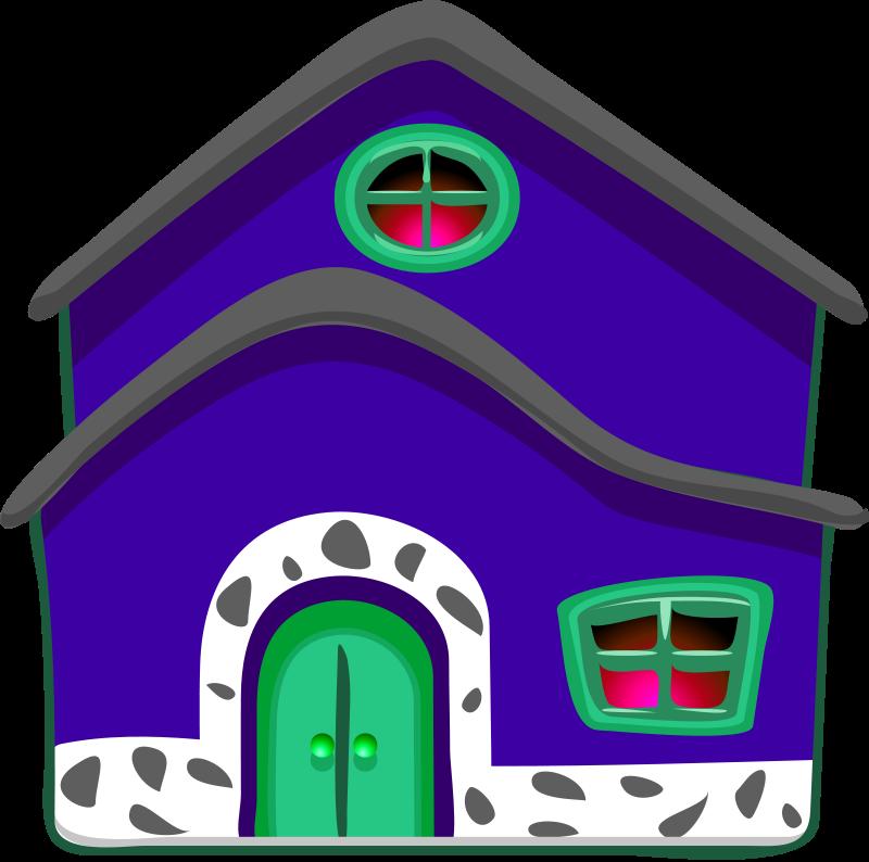 clip art blue house - photo #40