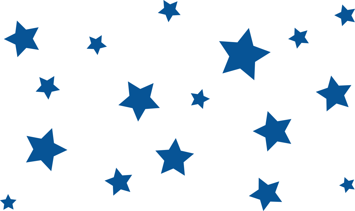 Transparent stars background