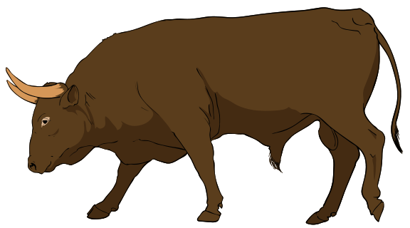 File:Bull clipart 01.svg - Wikimedia Commons