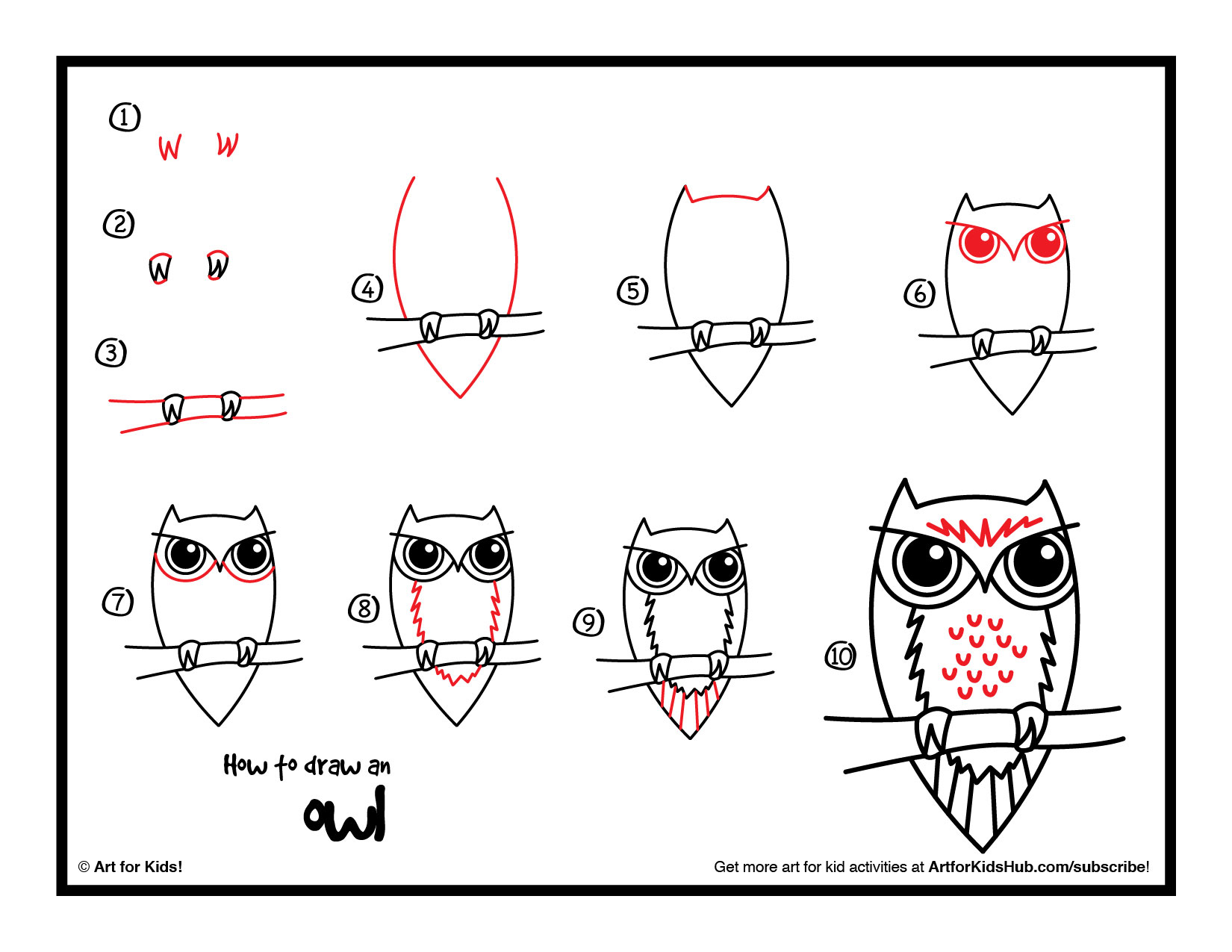 How To Draw An Owl Art For Kids Hub Cliparts Co