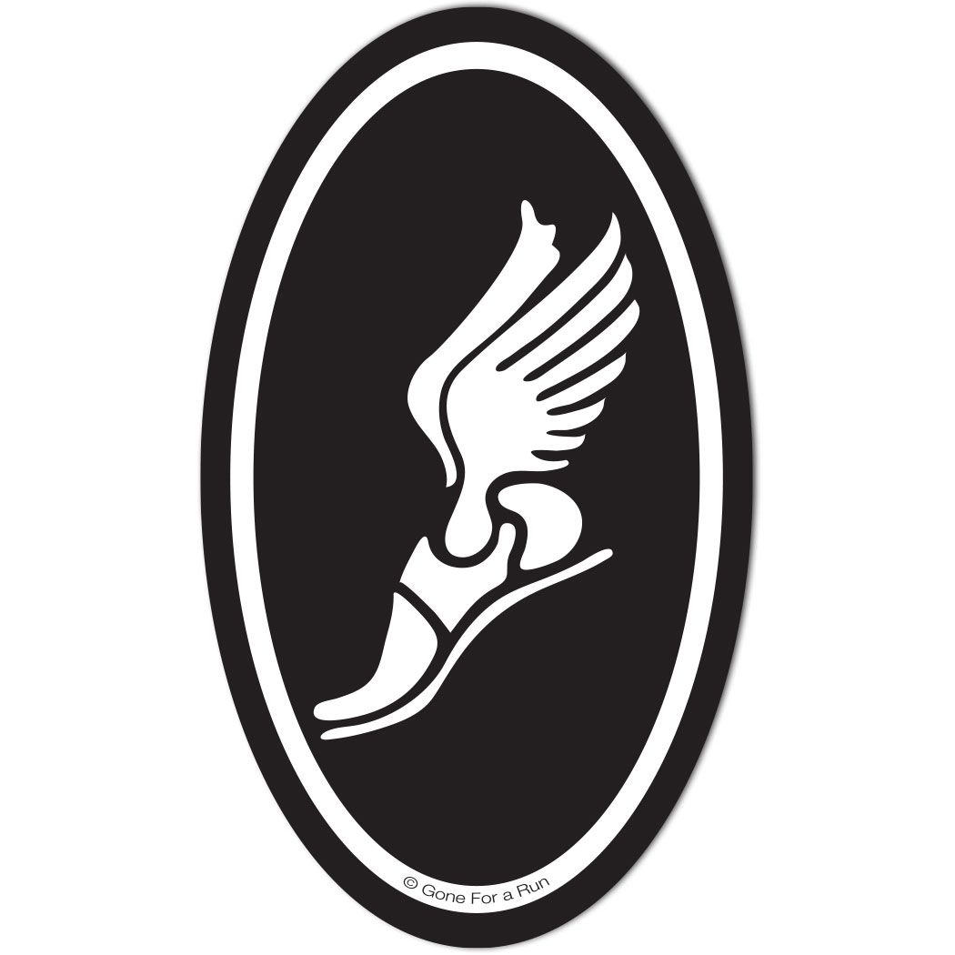 Winged Foot Car Magnet | Car Magnets for Runners