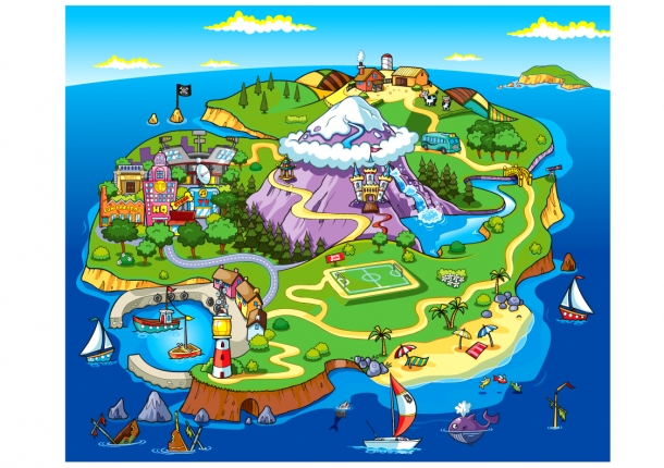 Cartoon Island By Anthonyrule - FigDig - Cliparts.co
