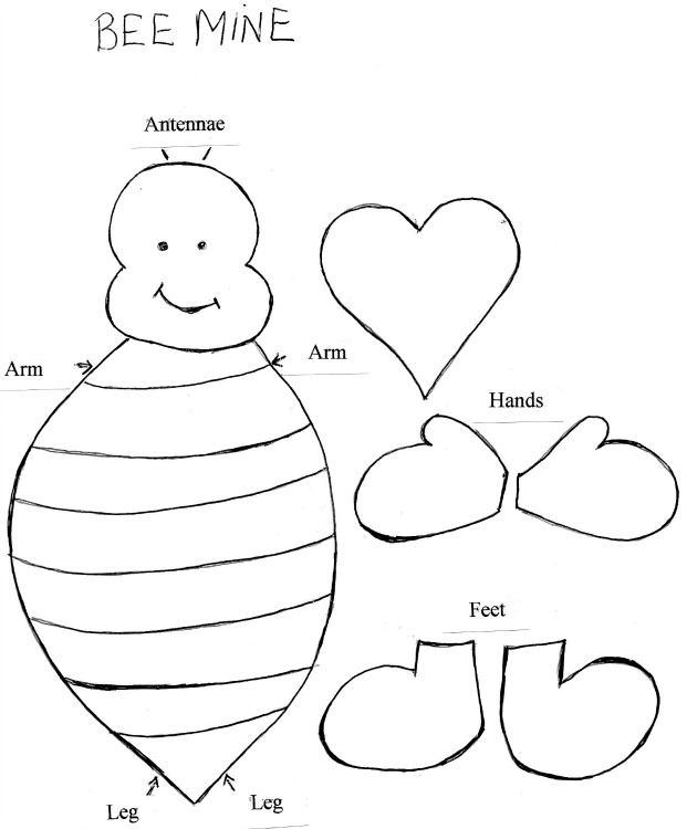 Bee Template Cliparts Co