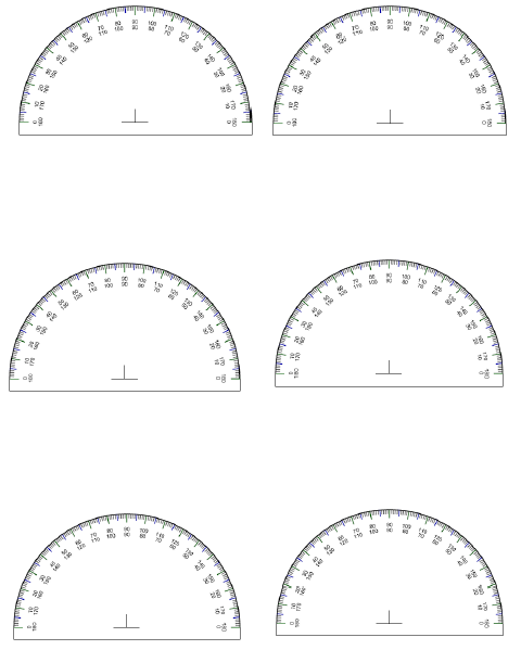 photo about 360 Degree Protractor Printable identify Printable Protractor -