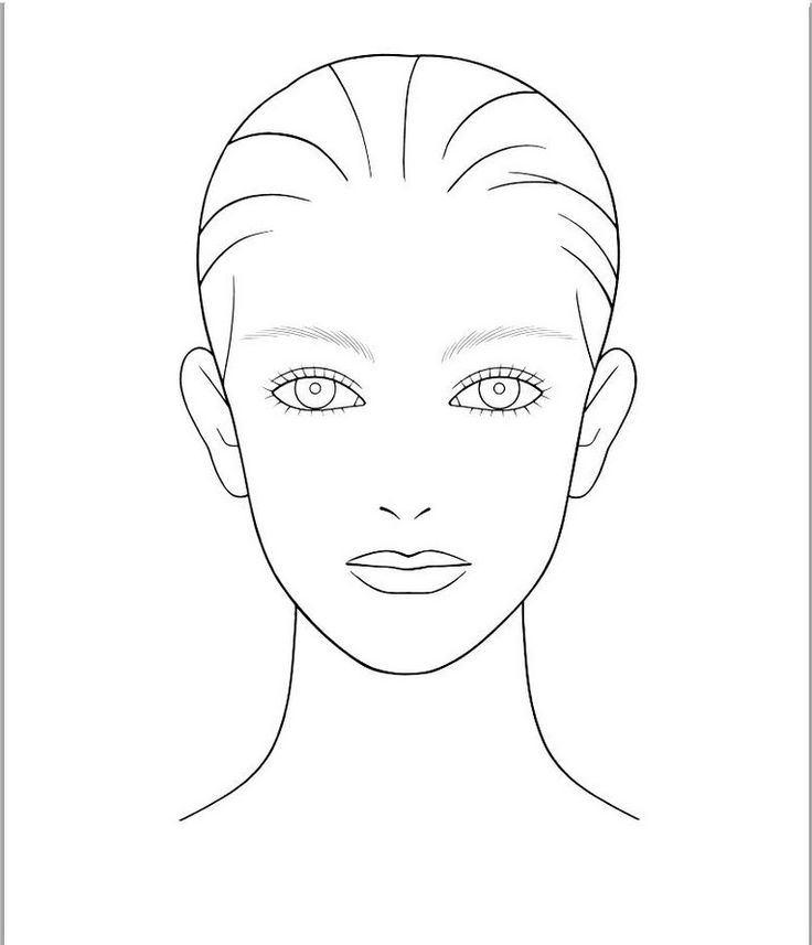 Blank facecharts on Pinterest | Face Charts, Makeup Face Charts ...