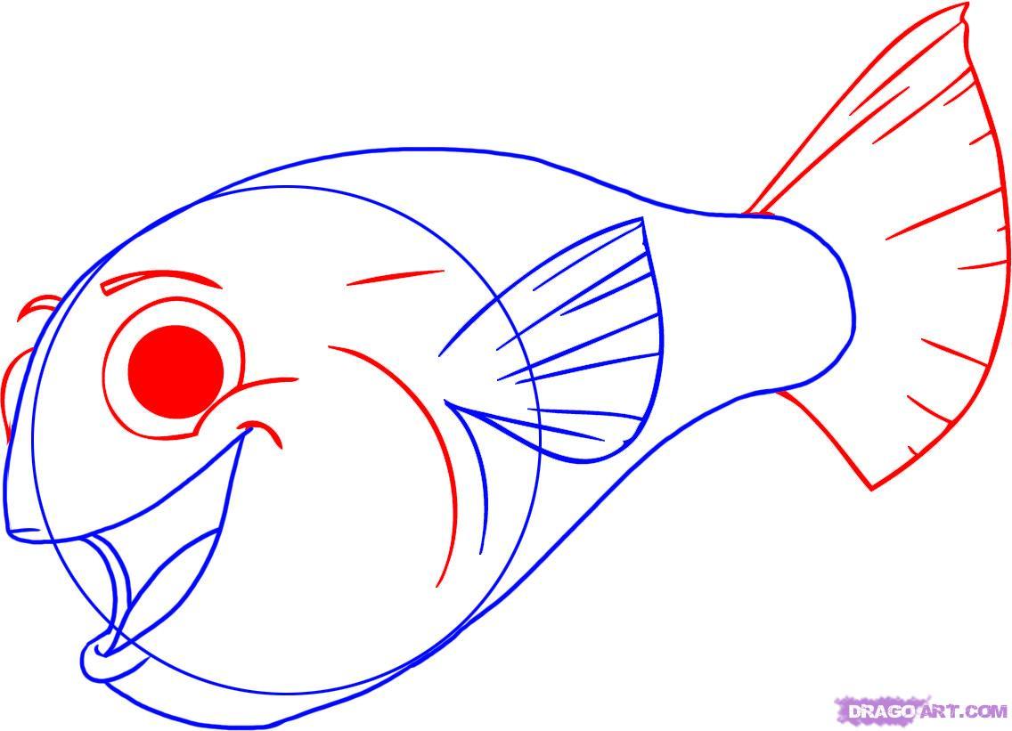 Cartoon fish drawing for Cartoon fish drawing