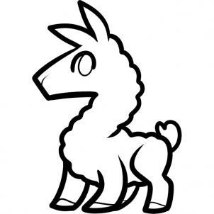 Llama Clipart Black And White Llama Drawing - ClipAr...