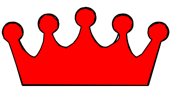 pictures of red princess crown template