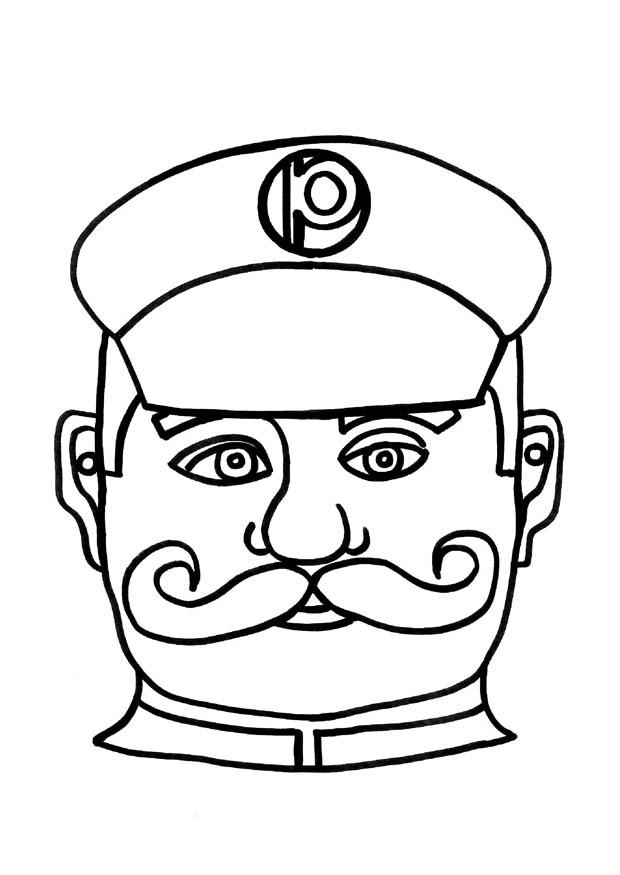 Crafts Policeman mask | 9187x Arts and crafts for children