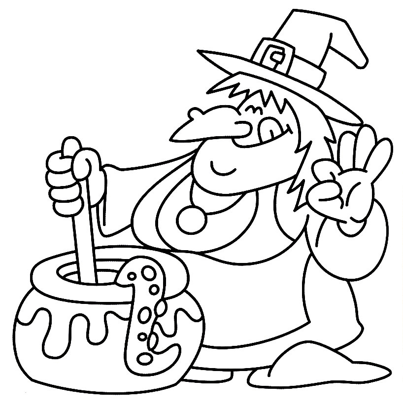 Halloween Coloring Pages Advanced For Kids Cliparts