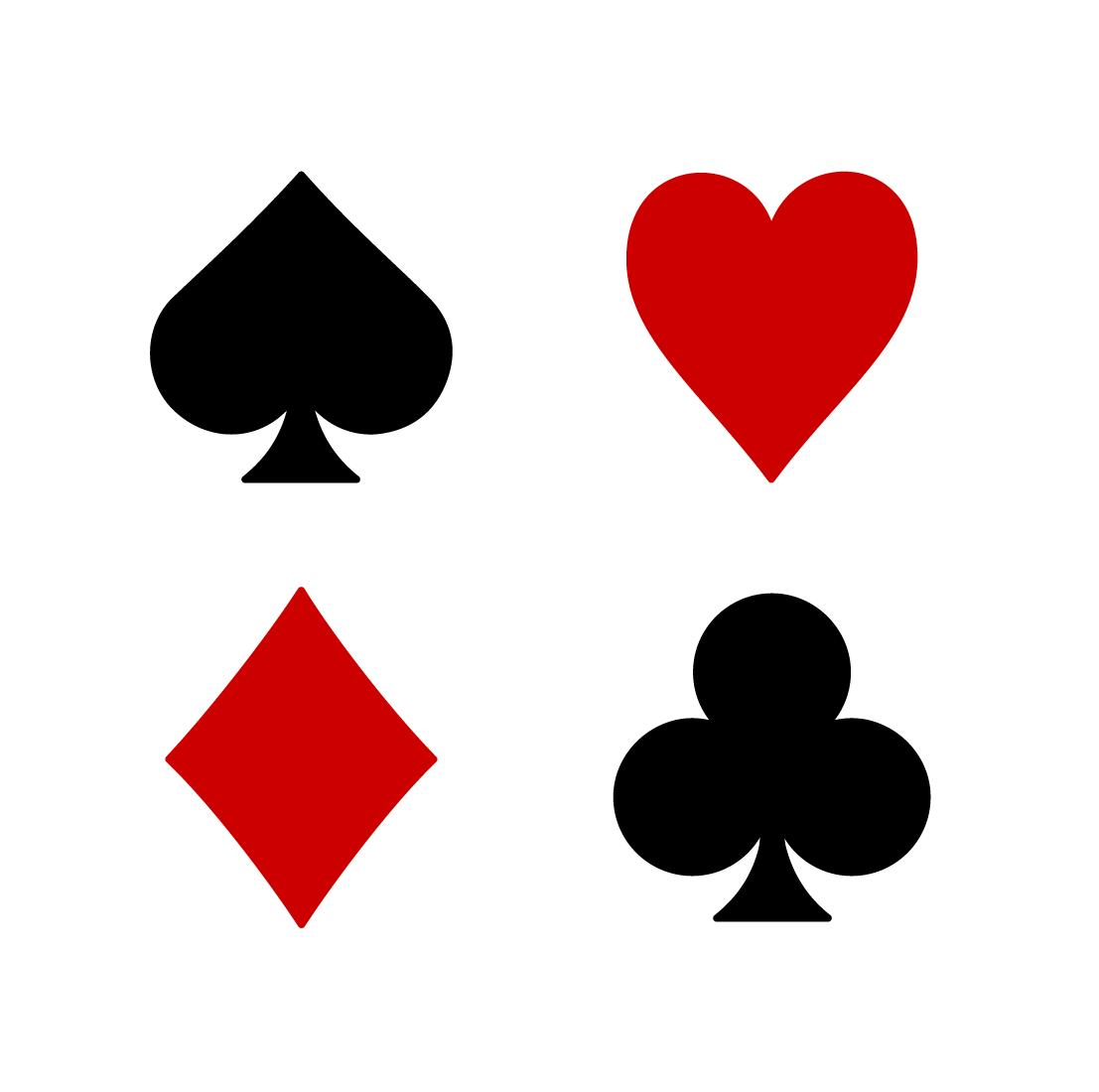Playing card symbols png