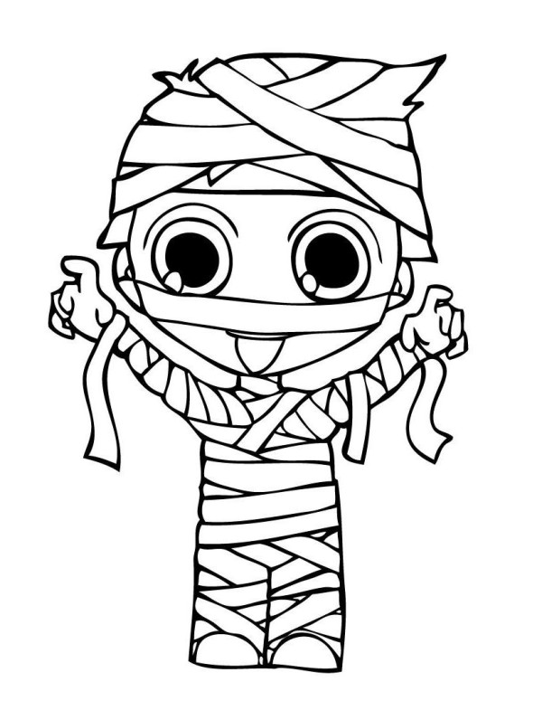 halloween mummy coloring pages - photo#6