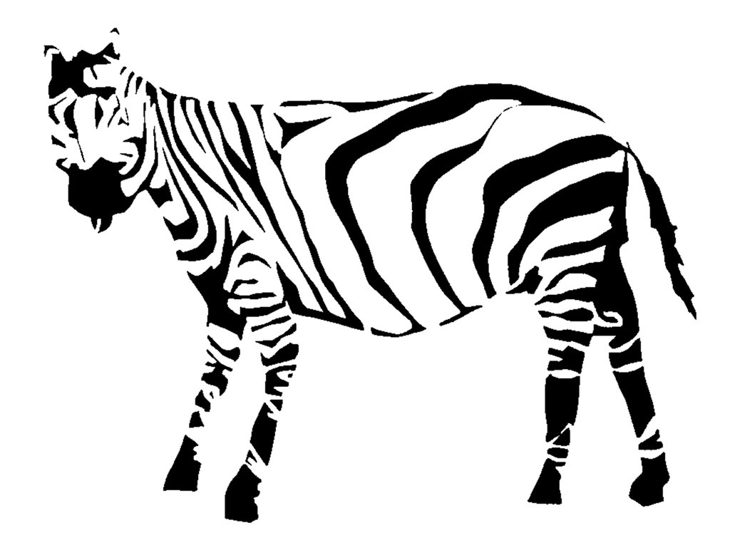 Line Drawing Zebra : Clip art zebra cliparts