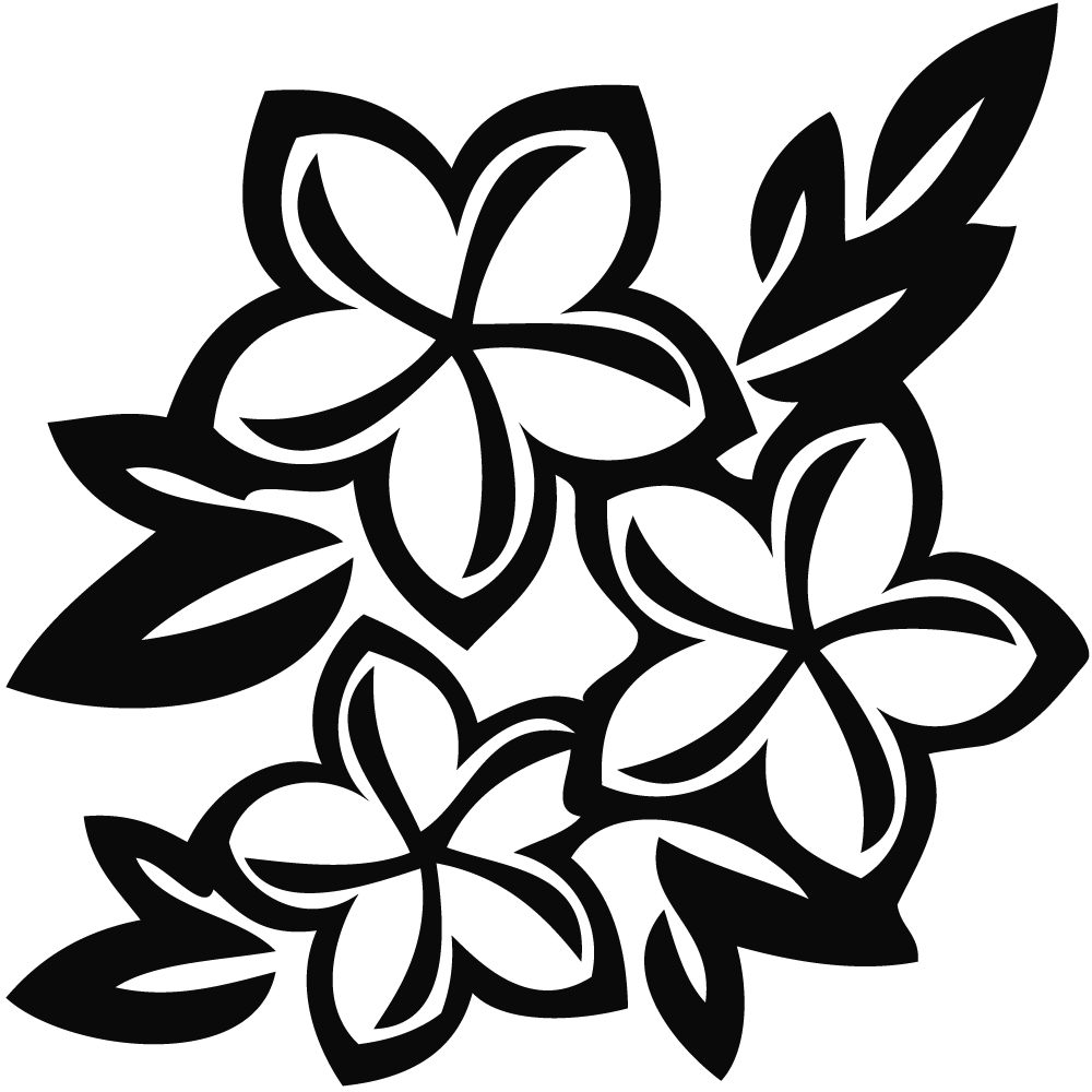 Clipart Spring Flowers Black And White | Clipart Panda - Free ...