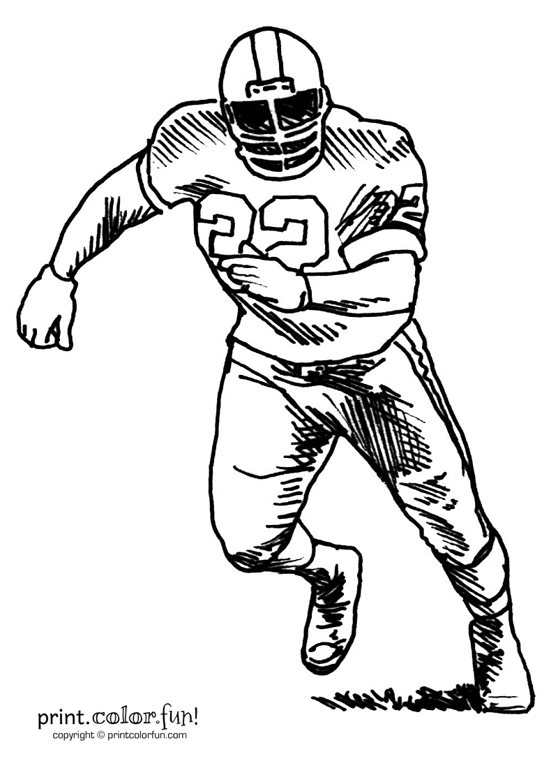 Football Player Drawing Cliparts Co