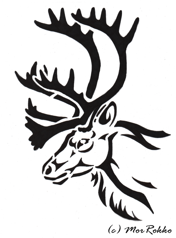 Tribal Stag Head Tattoo by WildSpiritWolf on deviantART