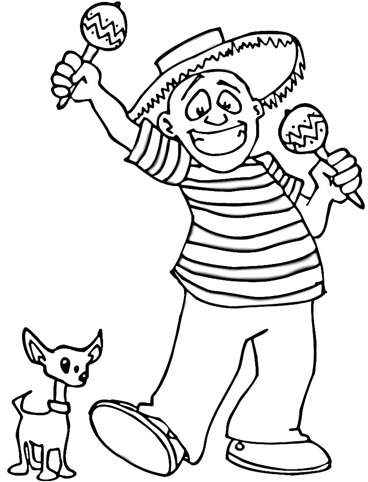 maracas coloring pages kids - photo#21