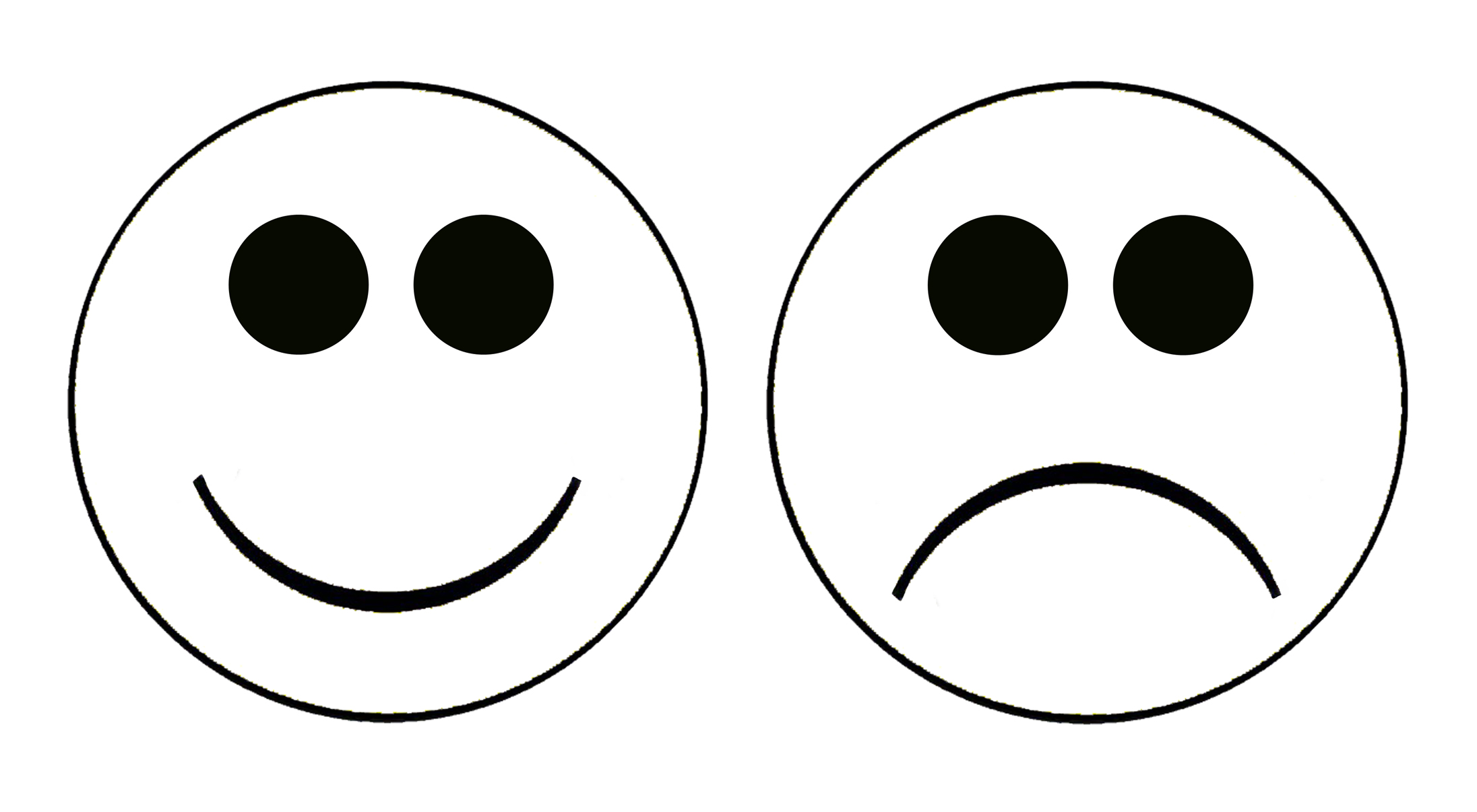 Happy face and sad face cliparts co