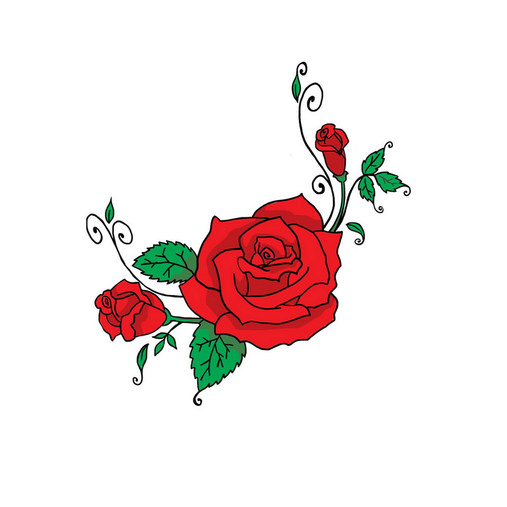 Cartoon Pictures Of Roses - Cliparts.co