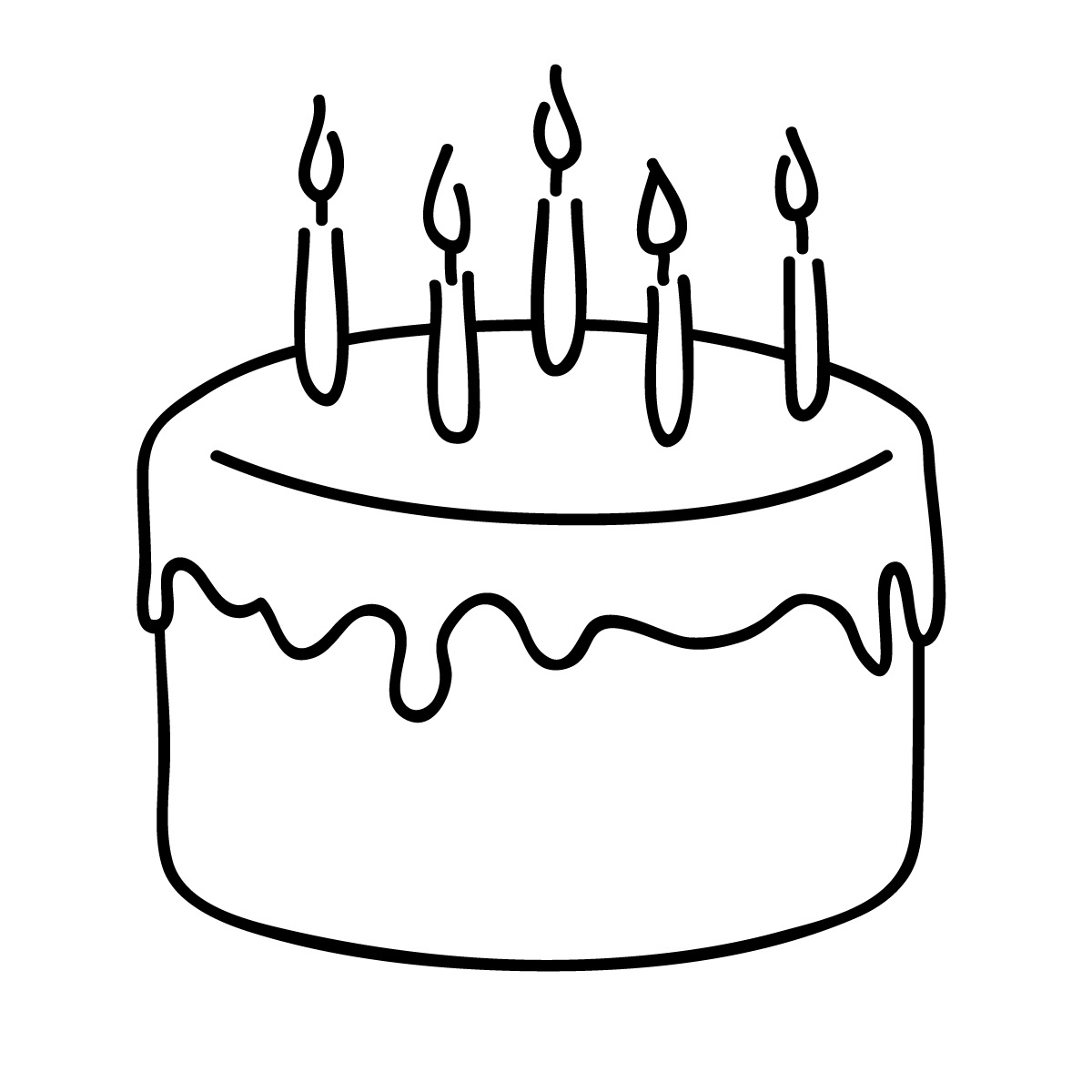 Birthday Cake Pictures To Print : Birthday Cake Outline - Cliparts.co