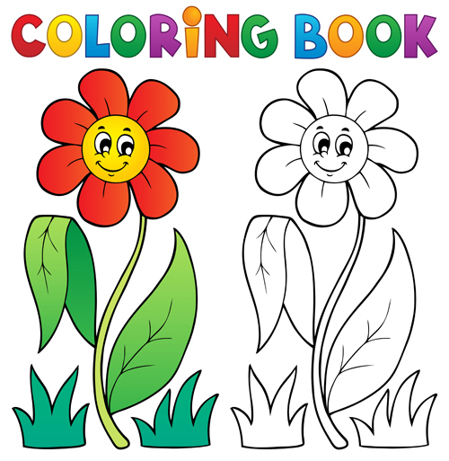 Coloring book vector set 03 - Vector Other free download