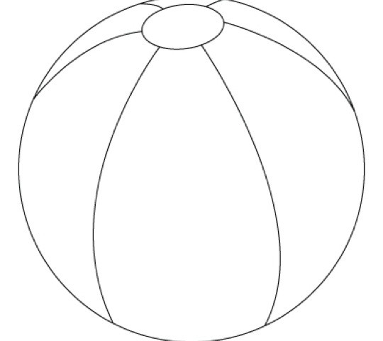 Free coloring pages of beach ball