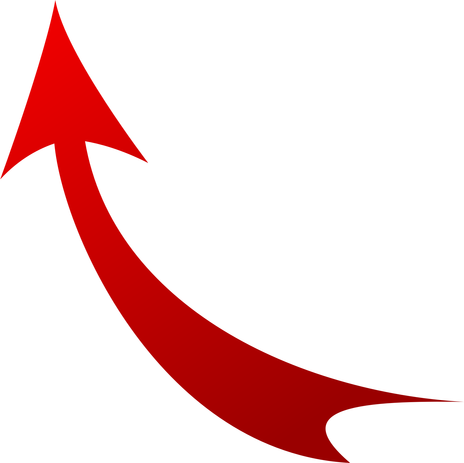 Red Curved Arrow - Cliparts.co