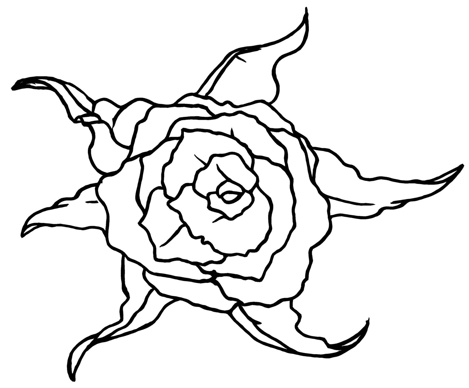 Line Art Rose : Rose line art cliparts