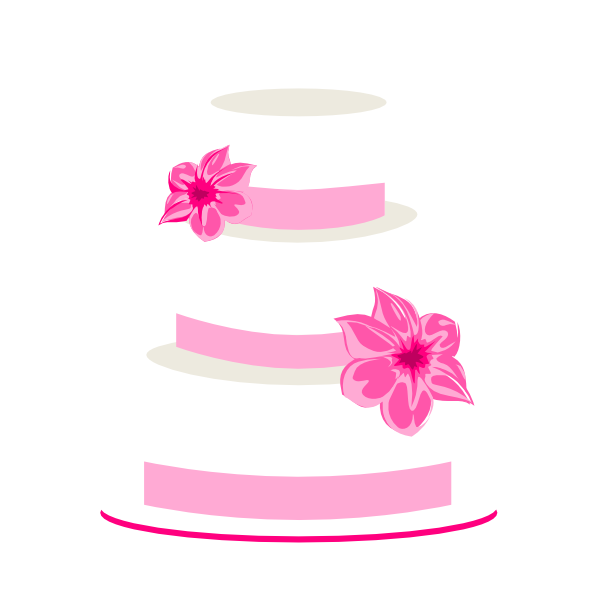 Pink Wedding Cake clip art - vector clip art online, royalty free ...