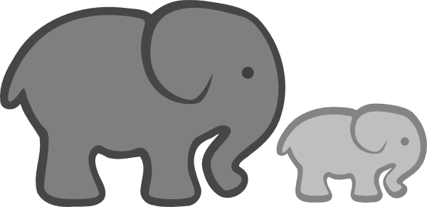 Baby Elephant Outline - Cliparts.co