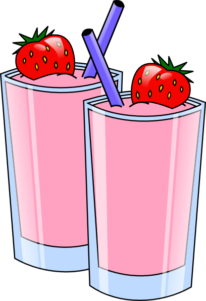 Strawberry Smoothie Drink Beverage Cups clip art - vector clip art ...