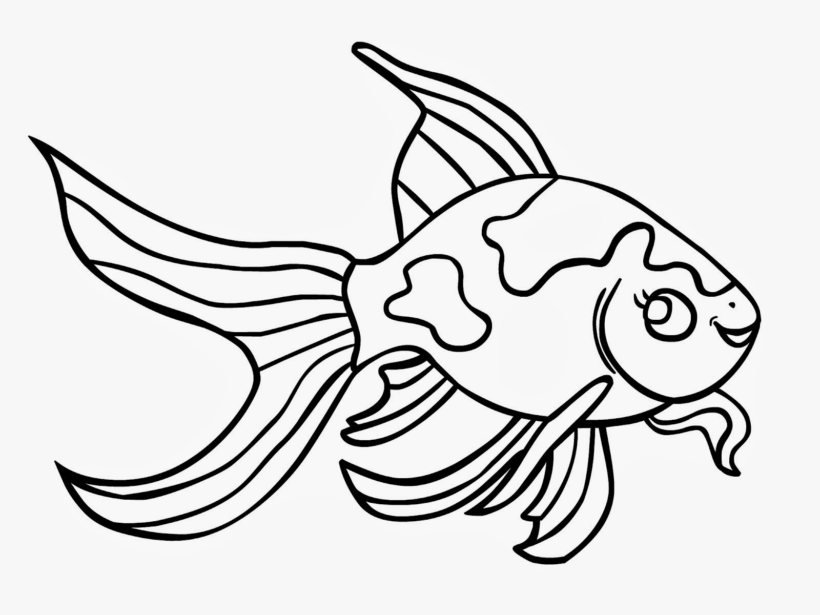 Outline drawings of fish for Fish drawing pictures