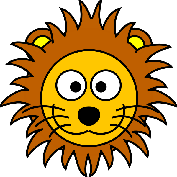 Cartoon Golden Lion 2 clip art - vector clip art online, royalty ...