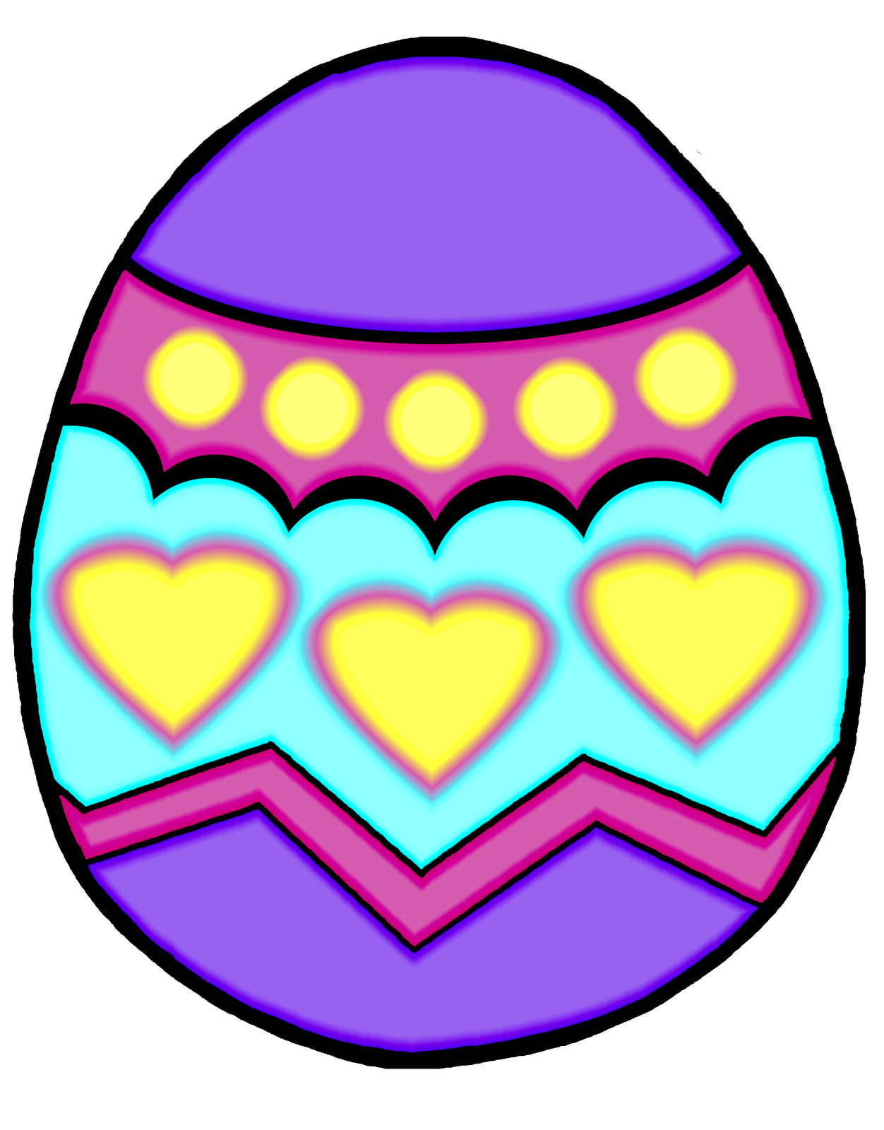 Easter Egg Clipart Black And White   Clipart Panda - Free Clipart ...
